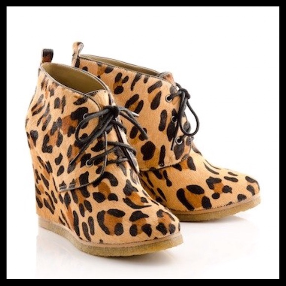 Shoemint Shoes - Shoemint Jolly Leopard Pony Wedges
